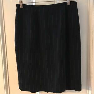 Ann Taylor Black pinstriped pencil skirt, size 8